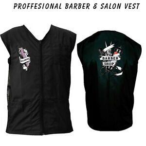 Barber vest,Barber jacket,barber stylist vest,Black vest M to 3xl size