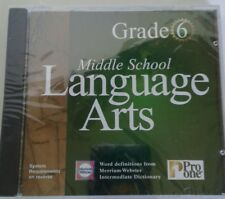 Pro One Middle School Language Arts Grade 6 CD-ROM for Windows New