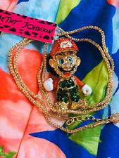 US SELLER Betsey Johnson Mario Gold Chain Necklace