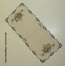 STICKEREI Tischdecke ALLZEIT Tischläufer OBST Tischdeckchen Deckchen Küche 26x58