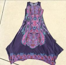 Reborn Hankerchief Sleeveless Maxi Dress XL Purple Long