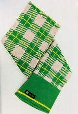 John Deere Plaid Women's Knit Scarf. Pink And Green. Excellent.