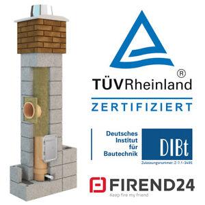 Schornstein Bausatz Keramik isoliert massiv Kamin ZUL 160 180 200 250 300 X