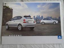 Hyundai Accent brochure 2007 Canadian market