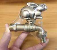 Brass Garden Tap Rabbit#2 Spigot Faucet Vintage Yard Water Home Decor Outdoor