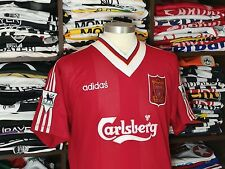 LIVERPOOL FC home 1995/96 shirt -McMANAMAN #17-England-Real Madrid-Jersey-Adidas