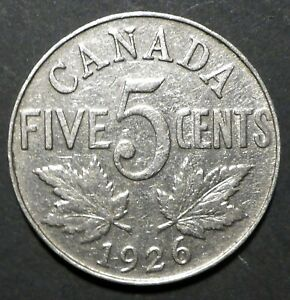 CANADA 1926 NICKEL BETTER DATE SHIP$1.99 U.S. COMB. SHIPPING
