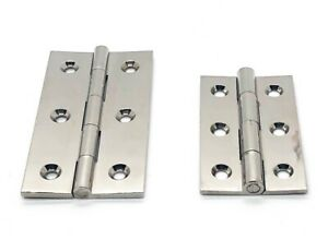 Polished Nickel Cabinet Hinges- For Kitchens and Cupboards 64mm and 50mm