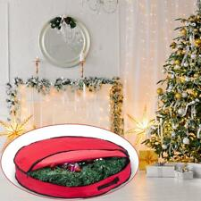 Heavy Duty Round Christmas Tree Wreath Storage Bag Carry Organizer with Zipper