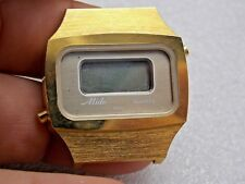 Vintage Gold Plated Mido Early Quartz LCD Gents watch swiss ref 781.08.8294