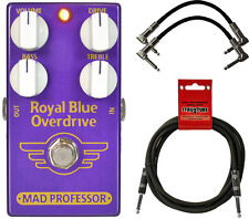 Mad Professor Royal Blue Transparent Overdrive Effect Pedal Bundle with Cab