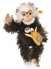 Steiff Najumo Monkey Brown Tipped Mohair Jointed 32cm Animal 035128 New RRP£189