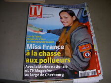 TV MAGAZINE FIGARO 10.04.2005 MISS FRANCE CINDY FABRE WOLKOVITCH