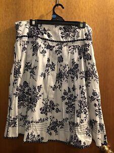 Women's Summer Skirt Size 14 100% Light Cotton