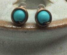 Turquoise Stud Natural Costume Earrings