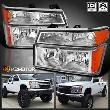 2004-2012 Chevy Colorado GMC Canyon Clear Headlights 4PC+Bumper Corner Lamps
