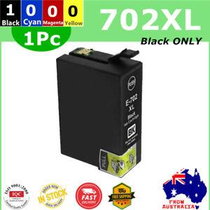 1x Generic 702XL 702 XL Black ONLY Ink Cartridge For Epson WF3720 WF3725 WF3730