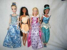 Disney Princess Barbie Doll Bundle Jasmine, Aurora, Cinderella, Pocahontas