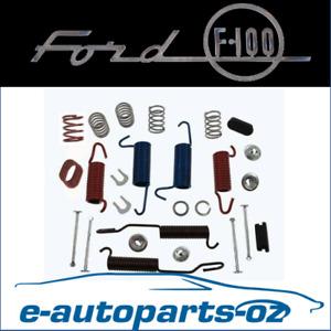 Ford F100 F150 Bronco Quality Rear Drum Brake Spring Hardware Kit - 1967 to 1996