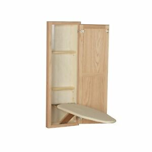 Household Essentials 18200-1 StowAway In-Wall Ironing Board Cabinet with Buil...