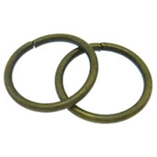 30pc 16mm antique bronze finish jump rings 1mm thickness-7556Q