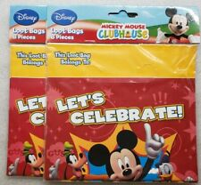Disney Mickey Mouse Clubhouse Treat Loot Bags 2 8ct Packages 16 Total Sacks