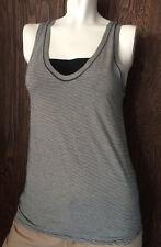 Lululemon Circadian Tank Size 6 Fitness & Yoga Mini Pop Gray Black Retail $48