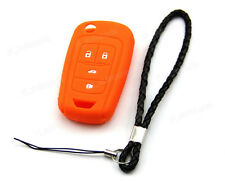 Orange Silicone Case Cover For Chevrolet Sonic 4 Button Remote Flip Key CHEV4FOR