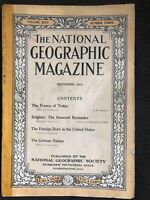 1914-09 SEPTEMBER NATIONAL GEOGRAPHIC: FRANCE-BELGIUM-U.S. IMMIGRANTS-GERMANY