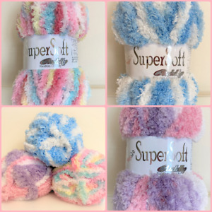Woolcraft Supersoft Cuddly Random Chunky~ 100 grams ~ Various Colours.