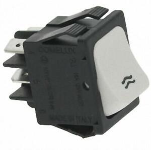 Bipolar Push-Button Switch White 16A 250V