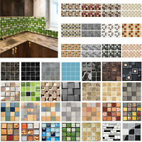 10/200pcs Mosaic Wall Tile Stickers Waterproof Self-adhesive Floor Decals Decor