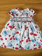 NEXT 9-12 months beautiful Red, White and Blue smocked Floral Dress