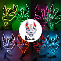 Fox Drift LED Light Up Mask for Halloween Cosplay Costume Music Festival Event