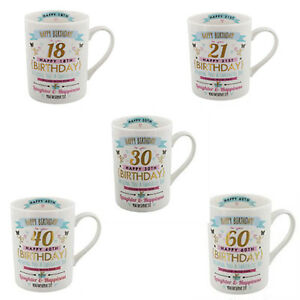 18th, 21st, 30th 40th,50th, 60th,  80th   Birthday Mug Gift for her