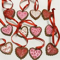 Mini Valentine's Day Heart Ornaments, conversation hearts, red, Pink, 2011 Stock