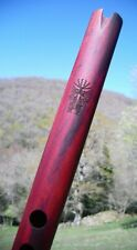 """Andean Flute Quena made from exotic Mexican wood """"Palo de Campeche"""" (G) tone."""