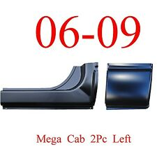 06 09 LEFT 2Pc Mega Cab Rocker & Mega Cab Corner, Dodge Ram Truck, 1.2MM Thick