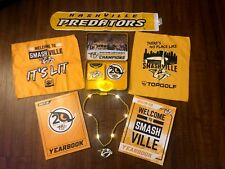 NHL Nashville Predators LOT,LED Rally Towel, Necklace,Yearbooks,Luggage Tag, SGA