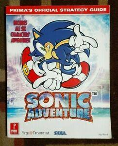 Sonic Adventure Prima's Official Stratrgy Game Guide Sega Dreamcast