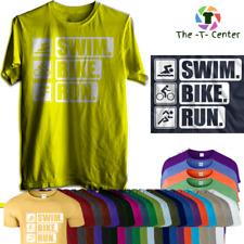Funny Work Out t-shirt Athlete Triathlon T-shirt Swim Bike Run T-shirt