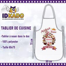 Tablier de cuisine MAMAN LA REINE DES GATEAUX personnalisé avec Prénom cadeau