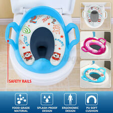 Kids Baby Toddler Toilet Seat Cover Padded Cushion Baby Bathroom Potty Training