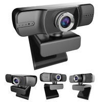 1080P Webcam with Microphone Adjust the Angle Manual Focusing Webcam For PC