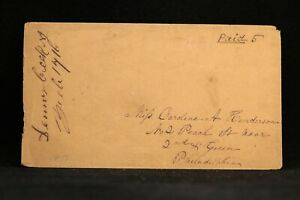 New Jersey: Dennis Creek 1851 Stampless Cover, Ms, DPO Cape May Co