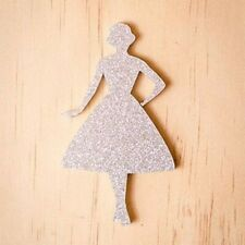 Martinis & Slippers: Vintage Lady Silhouete in Silver BNIB