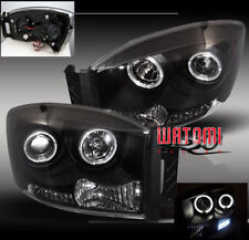 2006 2007 2008 DODGE RAM HALO PROJECTOR HEADLIGHT BLACK