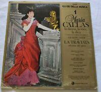 MARIA CALLAS LP LA TRAVIATA + FASCICOLO VINYL 33 GIRI ITALY 1981 IMI DMC01 EX/NM