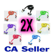 30 Pin Color USB Data Sync Charger Cable iPhone 3 3G 3Gs 4 4G iPod 2 3 iPad 2 3
