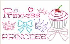 DIY Sticky Flock Hotfix Rhinestone Iron-On Transfer Template 8pc Set PRINCESS